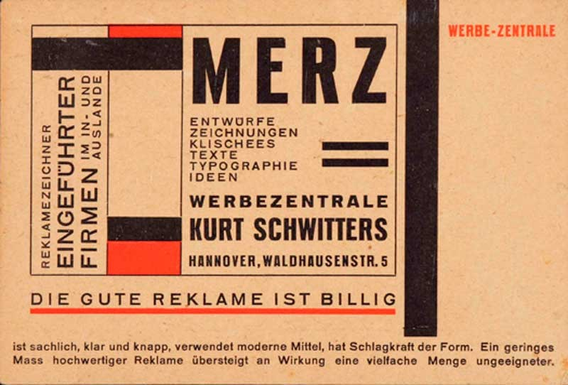 Kurt Schwitters. Avant-Garde and Advertising
